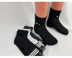 Шкарпетки чоловічі СПОРТ сітка,середні Адідас (розмір 41-45) асорті 12шт/уп