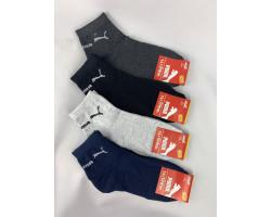 Шкарпетки чоловічі СПОРТ стрейч,середні Пума (розмір 41-45) асорті 12шт/уп